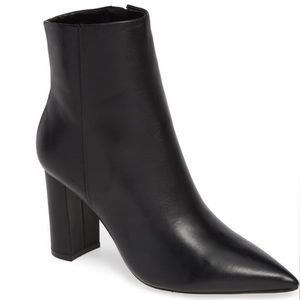 MARC FISHER Ulani Bootie - Black Leather